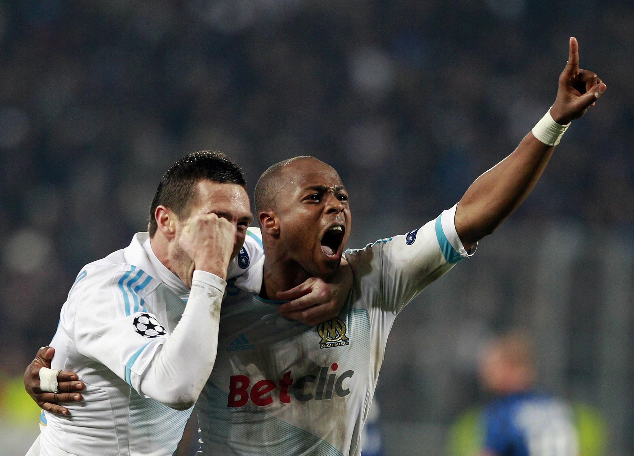 André Ayew avait délivré les Marseillais dans la dernière minute de la rencontre face à l'Inter Milan, le 22 février.