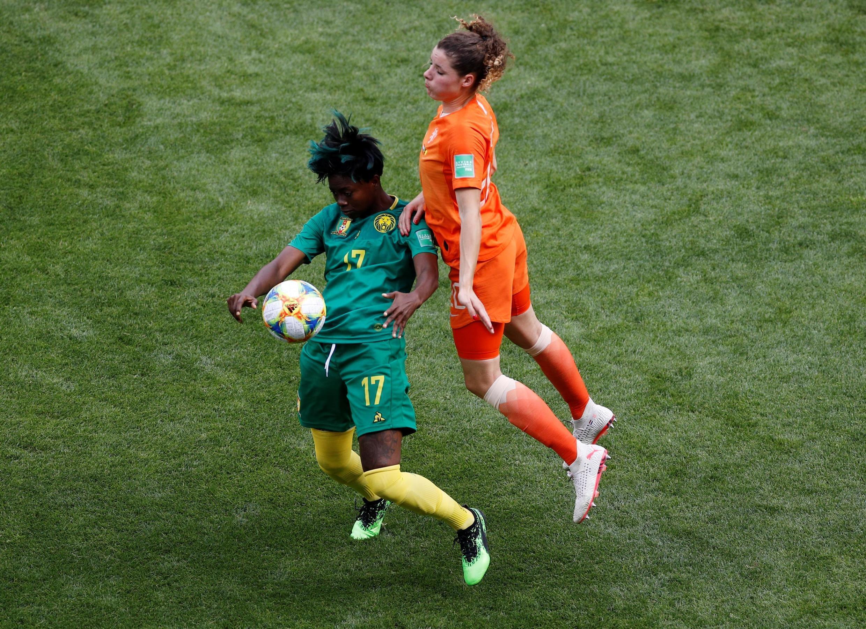 Gaëlle Enganamouit, qui revient de blessure, a livré une prestation solide avec le Cameroun face aux Pays-Bas.