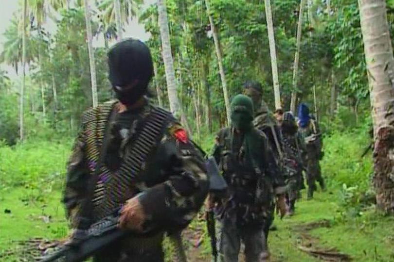 Des membres du groupe Abou Sayyaf aux Philippines.