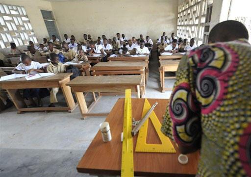 Ecole dans le quartier de Koumassi à Abidjan.