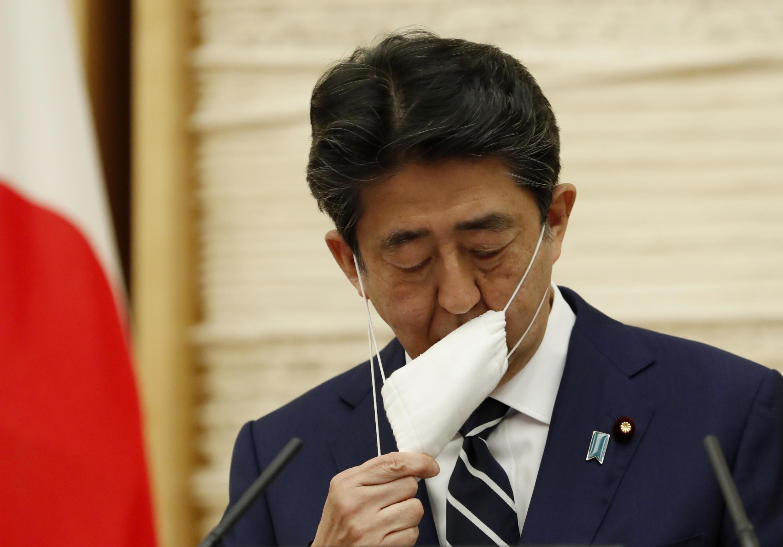 日本首相安倍晉三 2020年5月25日  照片