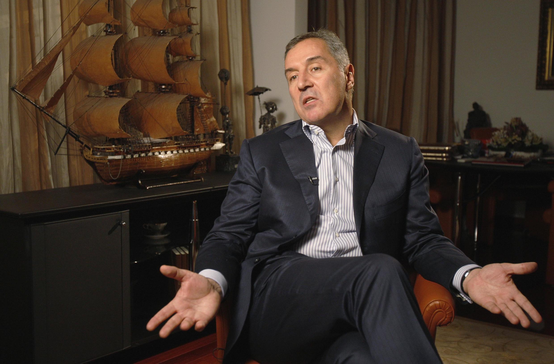 Milo Djukanovic, le chef du Parti démocratique des socialistes donné favori par les sondages à Podgorica, le 4 octobre 2012.