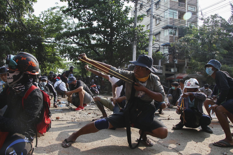 Birmanie - manifestation