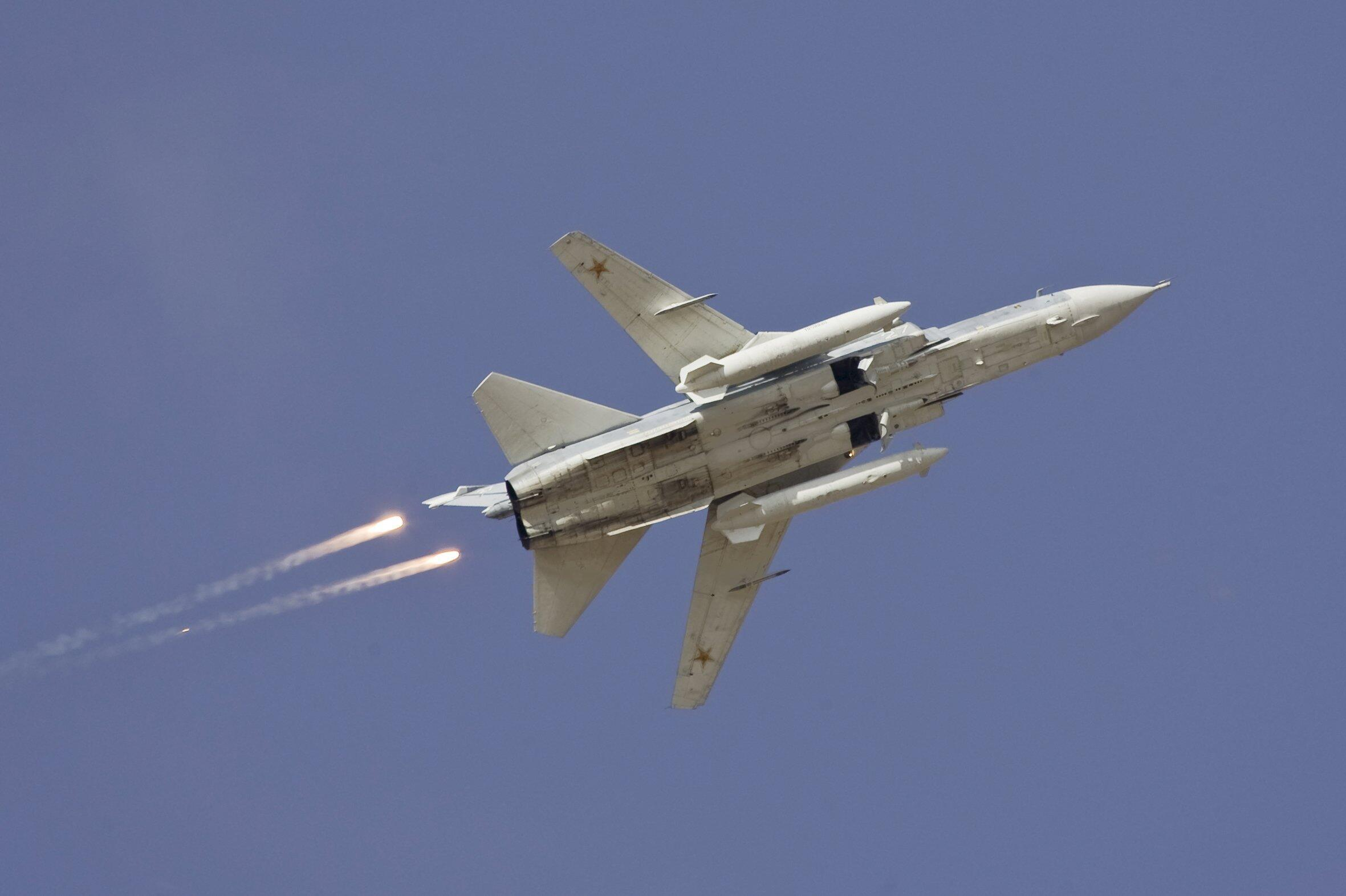 O Avião abatido na fronteira turco-síria é um Sukhoi Su-24.