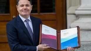 Paschal Donohoe, ministre des Finances de l'Irlande (ici en octobre 2019) a été élu président de l'eurogroupe le 9 juillet 2020.