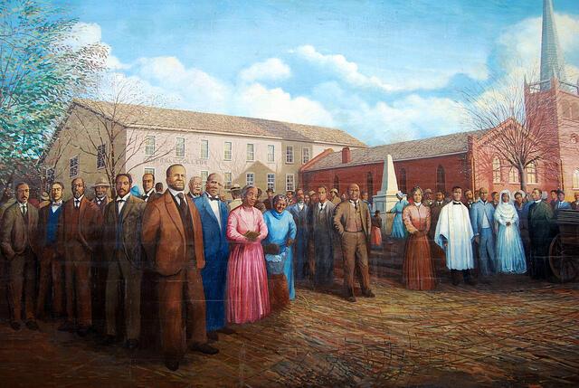 Première église africaine, de sensibilité méthodiste épiscopale.  Mississippi (1864)
