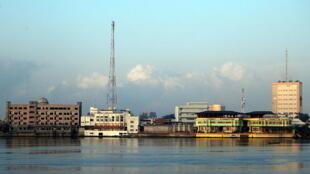 Vue de Cotonou, Bénin.