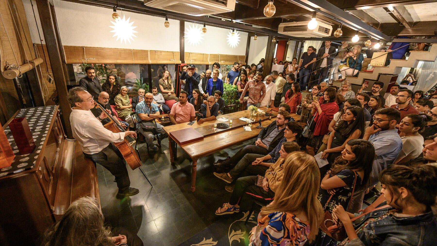 Yo-Yo Ma Bach Project, Mumbai, India, 2019.