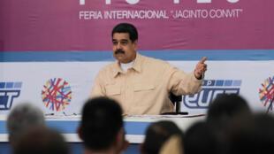 O presidente venezuelano Nicolás Maduro durante seu programa semanal televisivo