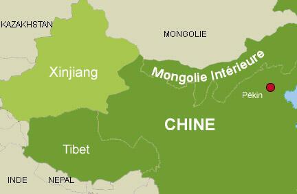 中國新疆地圖
