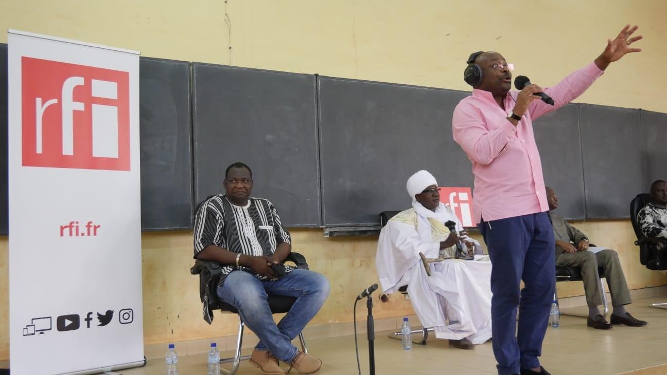 Enregistrement du Débat africain à l'université Joseph Ki-Zerbo, à Ouagadougou (29 mars 2021)