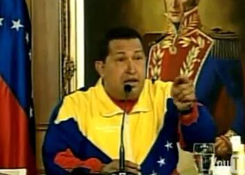 Captura de pantalla del video durante la reunión del presidente venezolano con la prensa extranjera.