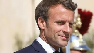 O Presidente francês, Emmanuel Macron. Paris, 10 de Julho de 2019.