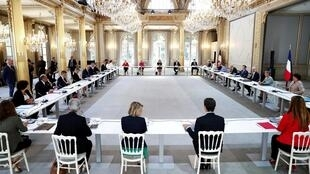 Conseil des ministres à l'Elysée, le 7 juillet 2020.