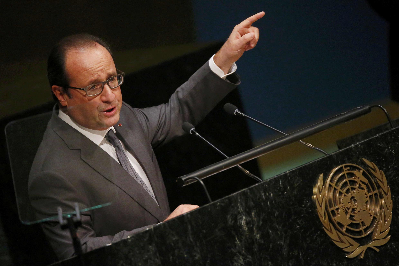 François Hollande à la tribune de l'ONU, le 28 septembre 2015.