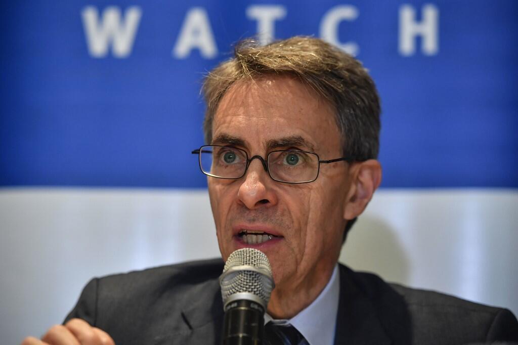 Tổng giám đốc tổ chức nhân quyền Human Right Watch, Kenneth Roth, ltrong một cuộc họp báo tại Sao Paulo, Brazil, ngày 12/01/2020.