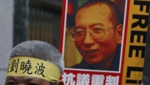 中国官方禁止将刘晓波比作中国的曼德拉