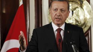 El primer ministro turco Recep Tayyip Erdogan en El Cairo, el 13 de septiembre de 2011.
