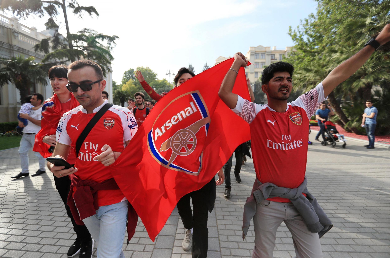 Болельщики «Арсенала» в Баку, 28 мая 2019