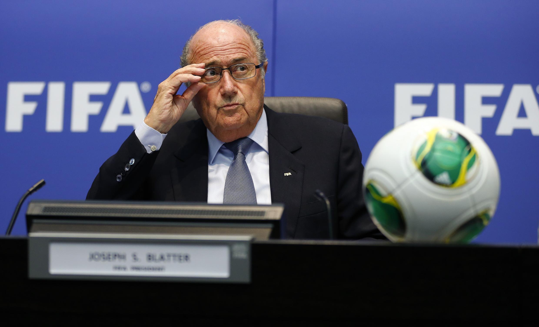 Sepp Blatter no comité executivo da FIFA,  4 de outubro 2013.