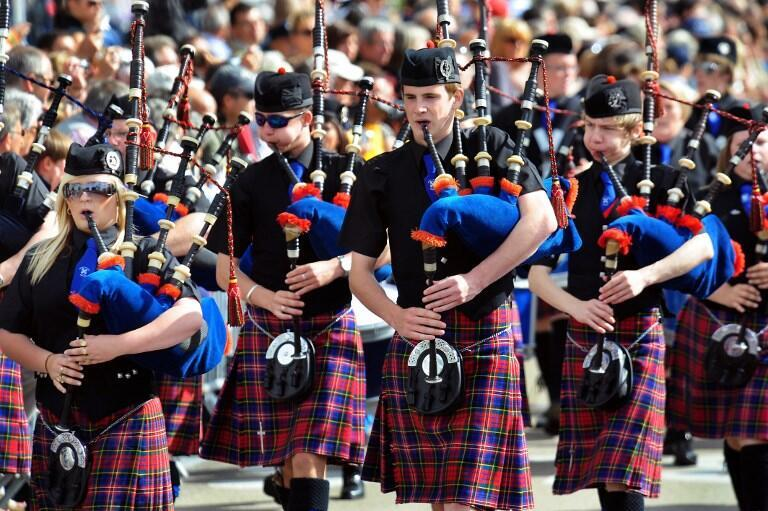 Scotland was the guest of honour at the 47th edition of the Festival interceltique in Lorient, western France, in 2017, represented here by the Methil Pipe Band.