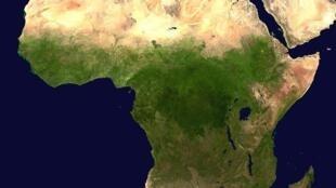 Tây Ban Nha và sa mạc Sahara (Ảnh vệ tinh)