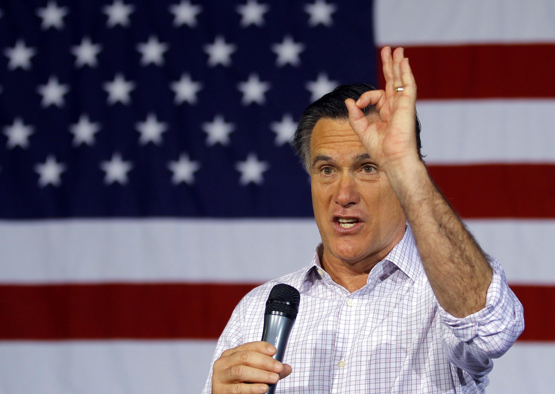 Ứng viên tổng thống Mỹ Mitt Romney, người đang dẫn đầu các cuộc bầu cử sơ bộ của đảng Cộng hòa