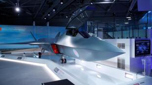 Le Royaume-Uni a dévoilé au salon de Farnborough son futur avion de combat, baptisé «Tempest». Le 16 juillet 2018.