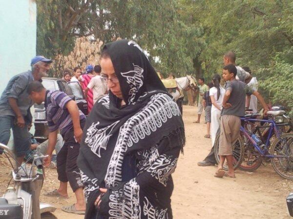 Hacina Zegzeg, représentante des opposants au gaz de schiste en Algérie.