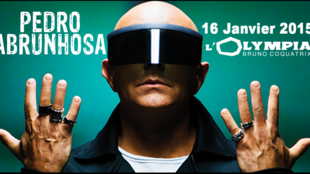 Cartaz do concerto parisiense de Pedro Abrunhosa, no Olympia a 16 de Janeiro de 2015