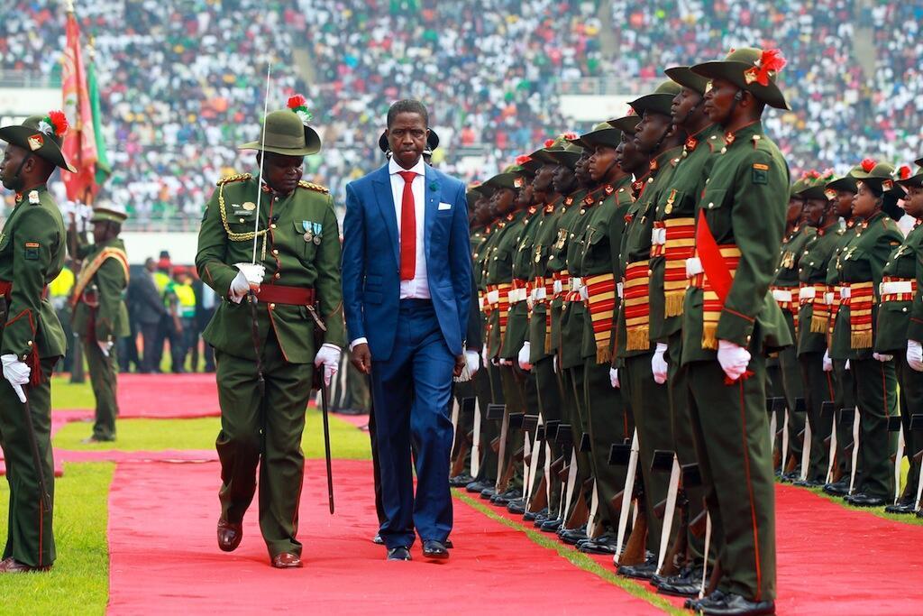 Shugaban Zambia Edgar Lungu yayin bikin rantsuwar sa a Lusaka