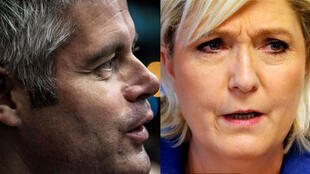 Laurent Wauquiez et Marine Le Pen.