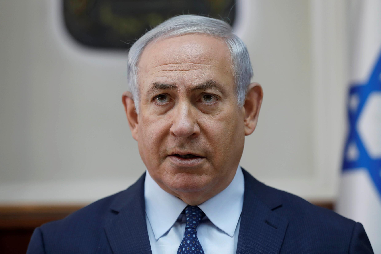 Thủ tướng Israel Benjamin Netanyahu tham dự cuộc họp nội các hàng tuần tại văn phòng thủ tướng, Jerusalem, 07/01/2018.