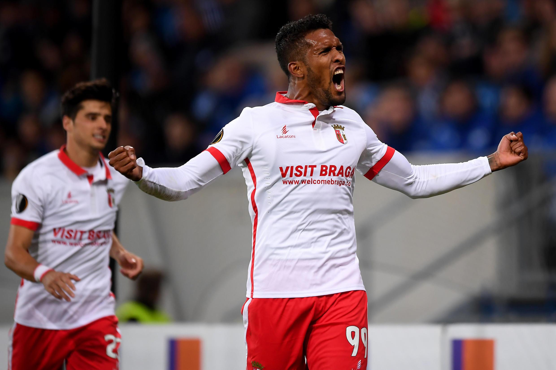 Dyego Sousa, avançado do Sporting de Braga, apontou o segundo golo bracarense frente aos germânicos do Hoffenheim.