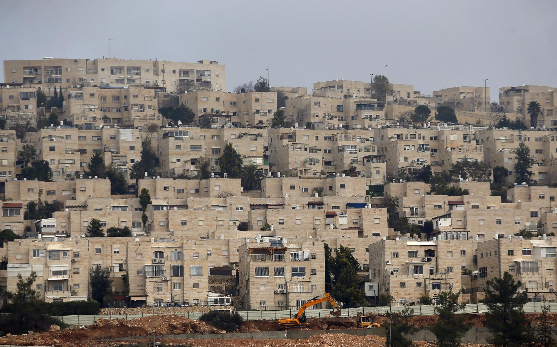 Một khu định cư của người Do Thái ở Đông Jeruselem, ảnh chụp ngày 28/12/2016.
