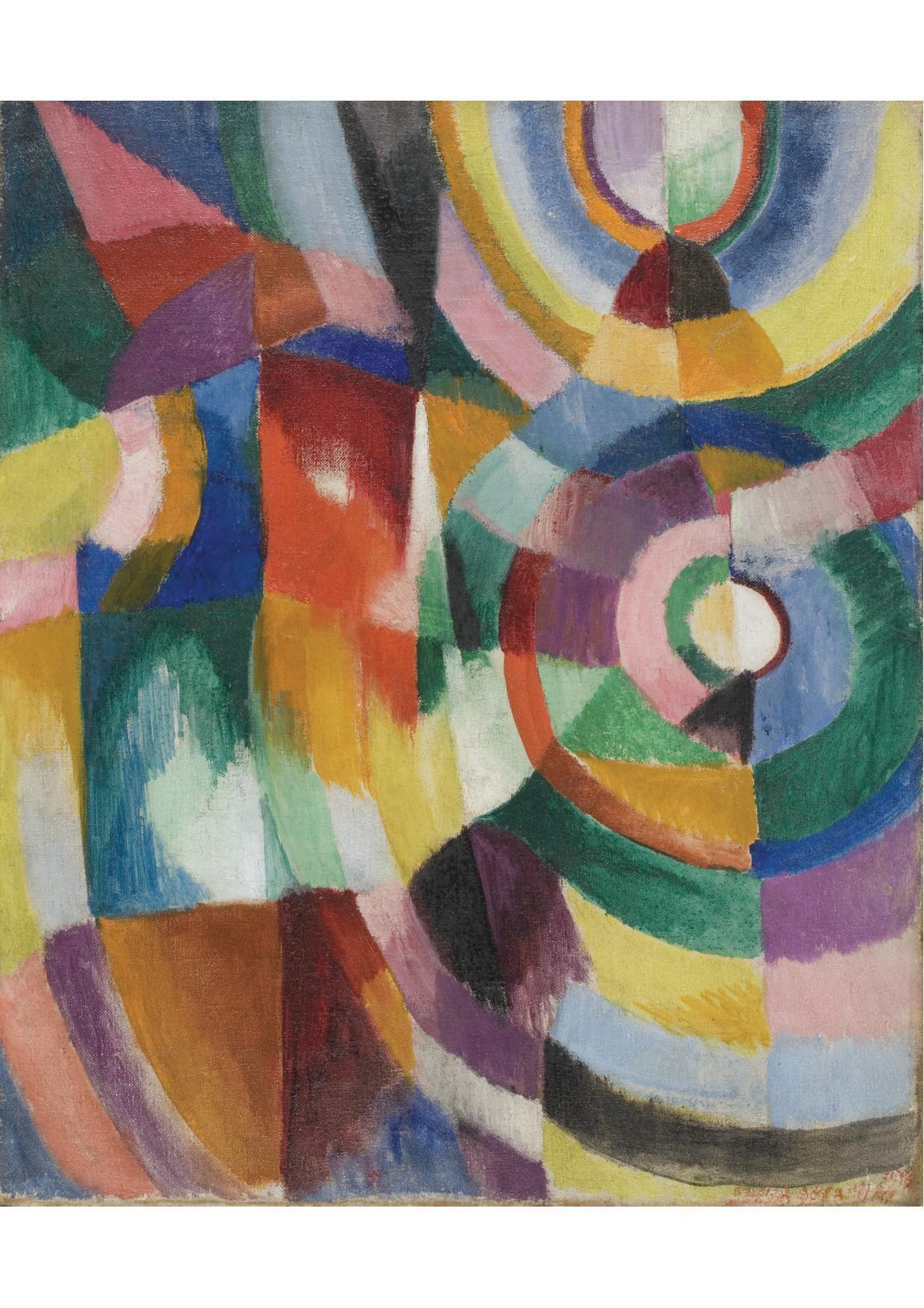 Sonia Delaunay Prismes électriques, 1913-1914.