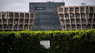 Edificio del fabricante aeronáutico europeo Airbus en Toulouse, en el sur de Francia, el 13 de mayo de 2020