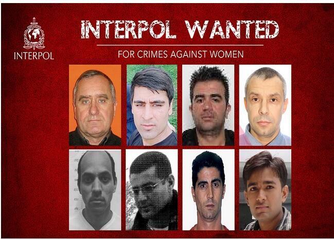 Oito fugitivos procurados pela Interpol por crimes contra mulheres. Um deles é o brasileiro Thiago Henrique Moreira. 25/11/2019.