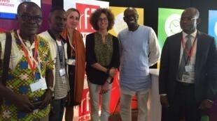 Emmanuelle Bastide et ses invités à la BAD, Abidjan.