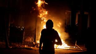 Incendio en el Congreso paraguayo (Asunción), 31 de marzo.