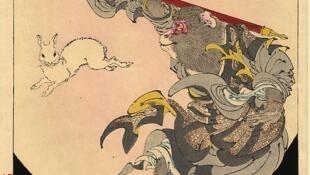 Tôn Ngộ Không theo một bức tranh của danh họa Nhật Bản Yoshitoshi (thế kỷ XIX).