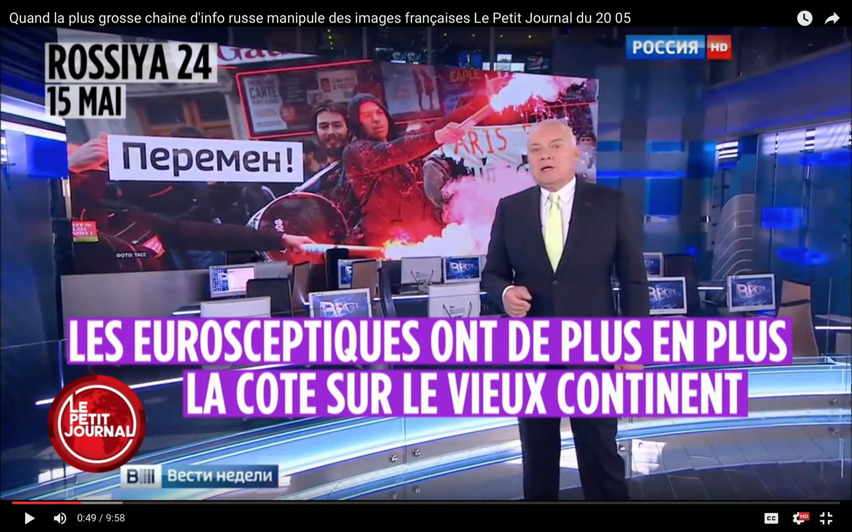 Французские журналисты перевели на родной язык сюжет «о евроскептиках» из программы Дмитрия Киселева.