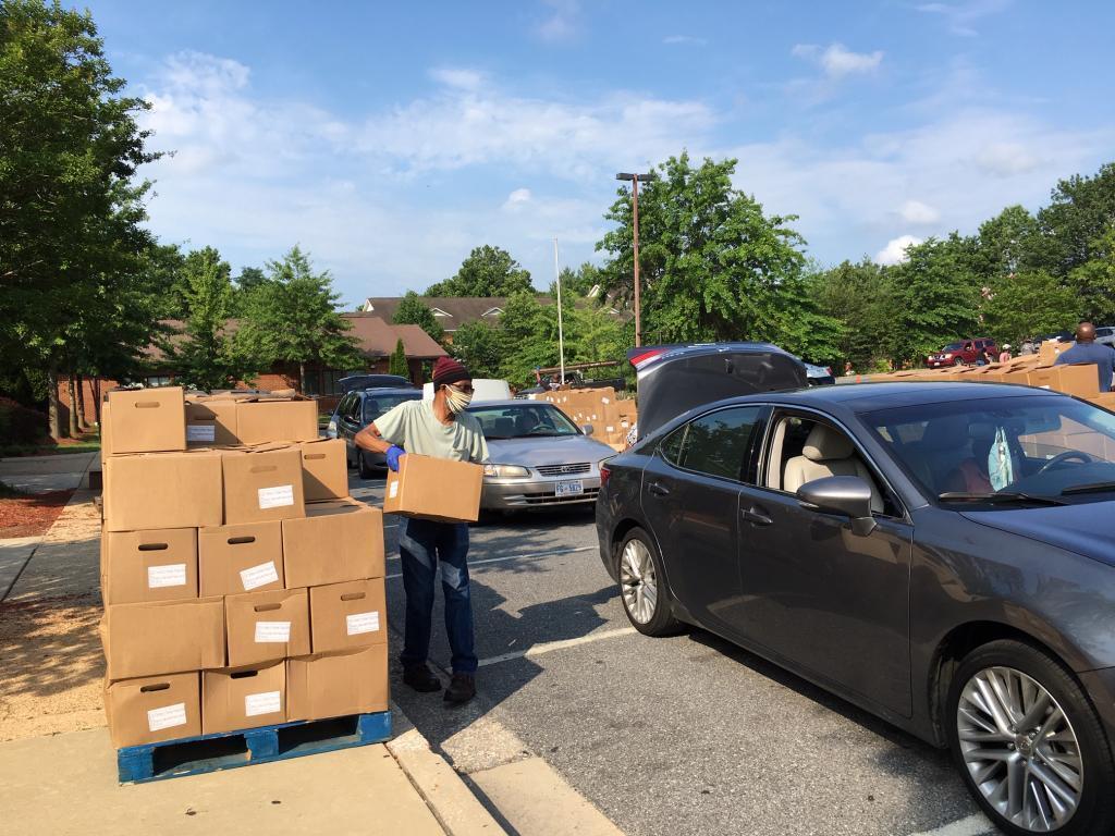 Distribtution de nourriture à Hyattsville.