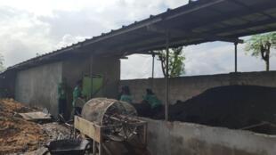 Unité de préparation d'engrais organique à Bingerville.