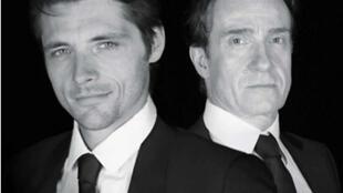 Thierry Frémont et Raphaël Personnaz dans la pièce «Les cartes du pouvoir», mise en scène de Ladislas Chollat.