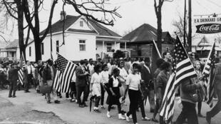 Marche pacifique à Selma en 1965, année du «Bloody Sunday».