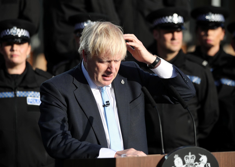 Thủ tướng Anh Boris Johnson vận động bầu cử Nghị Viện trước thời hạn tại hạt West Yorkshire ngày 05/09/2019.