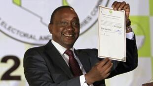 Uhuru Kenyatta رئیس جمهور جدید کنیا.