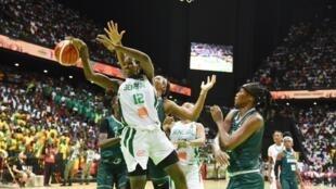 Lors de la finale du Championnat d'Afrique des nations féminin 2019 de basket-ball entre le Nigeria et le Sénégal.
