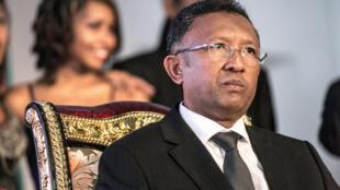 Le président malgache, Hery Rajaonarimampianina, en janvier 2014.